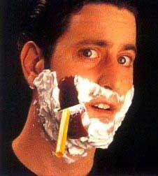 Rasierer Latex Wunde