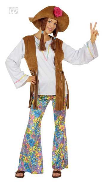 Hippie Frauen Kostüm Gr. XL