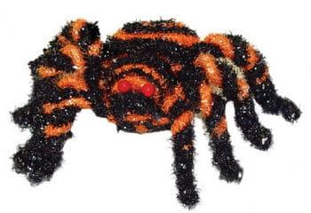 Kleine Glitzerspinne schwarz orange