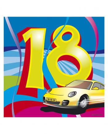 18. Geburtstag Servietten Swirls