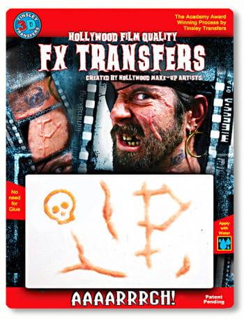 3D Tattoo Piraten Narben