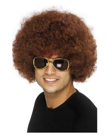 Braune Afro Perücke