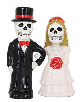 Skelett Brautpaar Salz & Pfefferstreuer