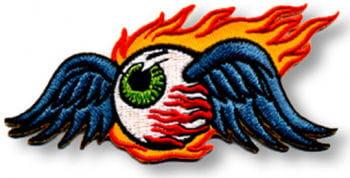 Aufnäher Flaming Eyeball Gross