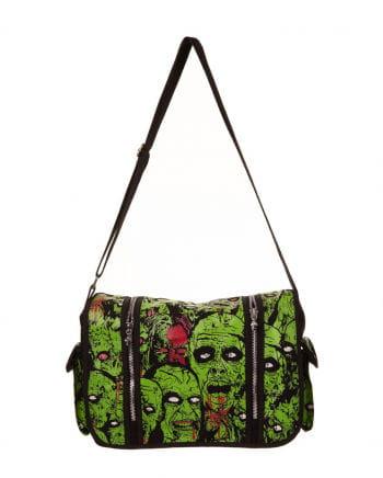 Blutige Zombie Umhängetasche schwarz/grün