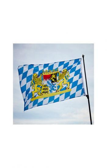 Bayern Rauten Fahne mit Wappen