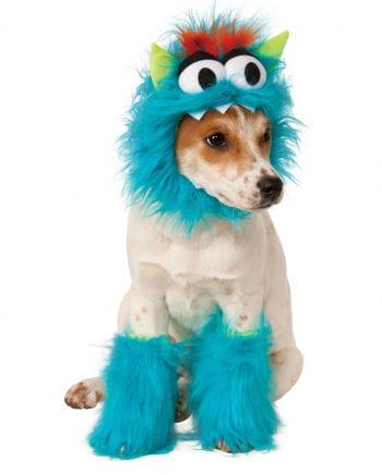 Hundekostüm blaues Monster