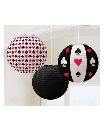 3 Stk. Casino Lampions