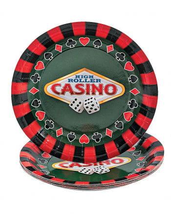 Kleine Casino Pappteller