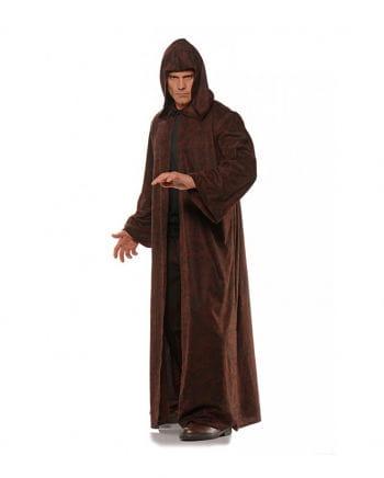Kostüm Mantel mit Kapuze braun-schwarz meliert