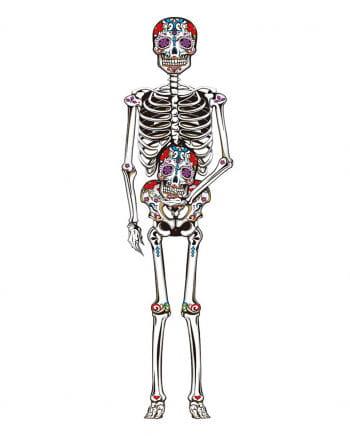 Tag der Toten Skelett Wand Deko 150 cm