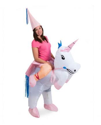 Aufblasbares Einhorn Carry Me Kostüm