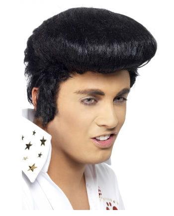 Elvis Perücke mit Koteletten