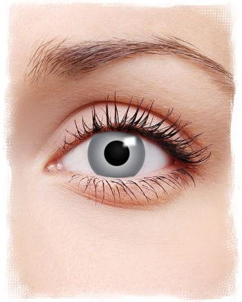 Zombie Motiv-Kontaktlinsen grau