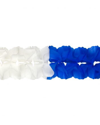 Weiß-blaue Großraumgirlande 12m