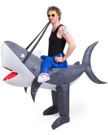 Aufblasbares Haifisch Carry Me Kostüm