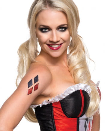 Glitzer-Tattoo Harley Quinn