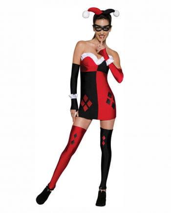 Harley Quinn Mini-Kostümkleid 7 tlg.