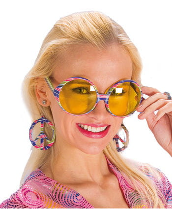 Hippie Brille mit Ohrringen