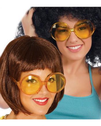 Gelbe Hippie Brille