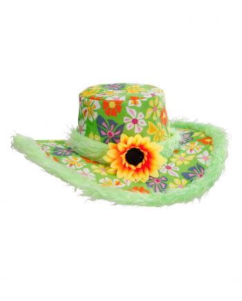 Bunter Hippie Hut mit Blume