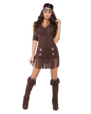 Braunes Indianerin Kostüm