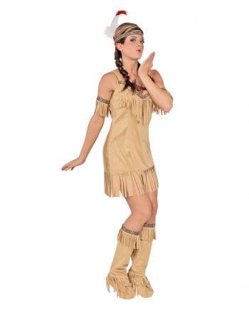 Beiges Indianerin Kostüm Kimi