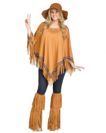 Brauner Indianer Poncho