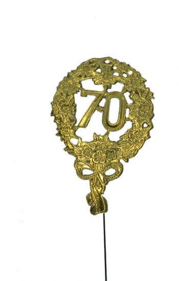 Jubiläums Zahl Siebzig gold