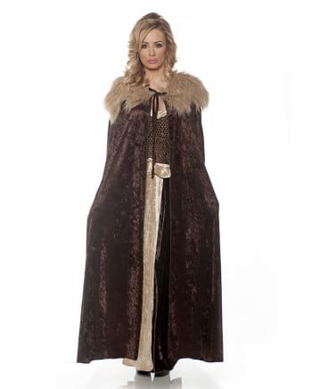 Mittelalter Kostüm Cape braun