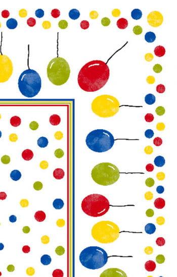 Party-Tischdecke mit bunten Luftballon Motiv