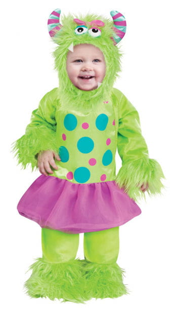 Monster im Tütü Babykostüm grün