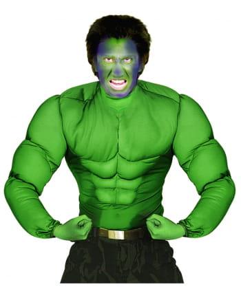 Grünes Monstershirt mit Muskeln XL