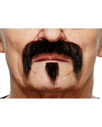 Braun-schwarzer Musketier Bart