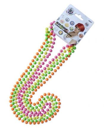 4 Perlenketten in Neonfarben