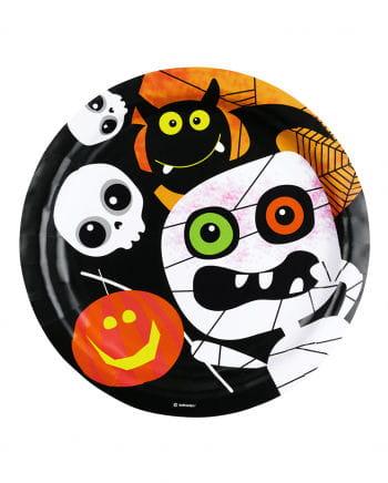 Halloween Monster Partyteller 8 Stück