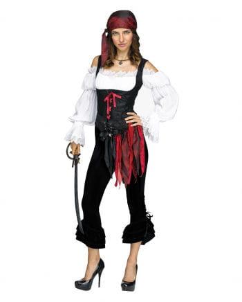 Schwarze Piratin Kostümhose