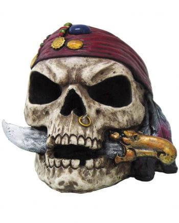 Totenschädel Pirat mit Dolch
