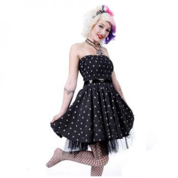 Polka Dot Petticoat Kleid mit Tüll
