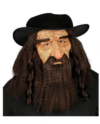 Faschings Maske Rabbi mit Hut
