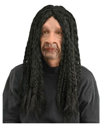 Rasta Maske mit schwarzen Rasta Zöpfen