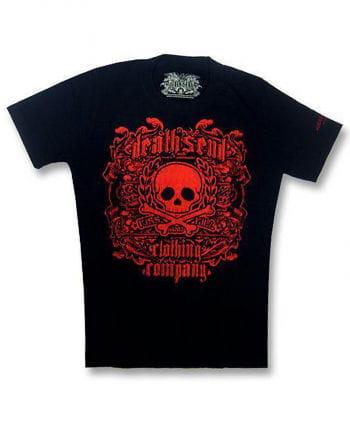 Red Skull and Bones T Shirt Gr. M