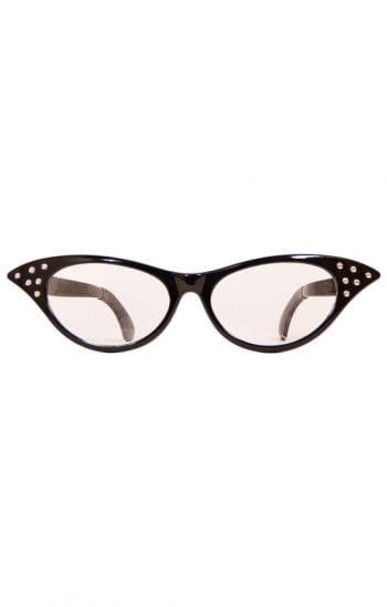 Old School Brille schwarz XXL