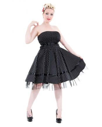 Polka Dot Kleid schwarz