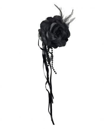 Anstecker Rose schwarz