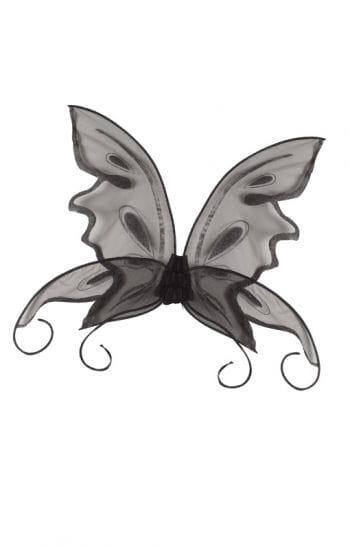 Schmetterling Flügel schwarz
