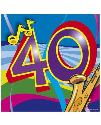 40. Geburtstag Servietten Swirls
