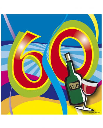 60. Geburtstag Servietten Swirls