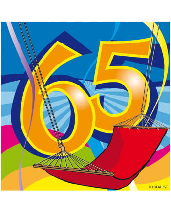 65. Geburtstag Servietten Swirls