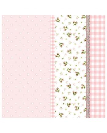 Einwegservietten Frühling rosa 20 St.
